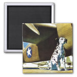 Army Dog Square Magnet
