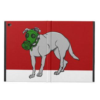 Army Dog Wearing A Gas Mask