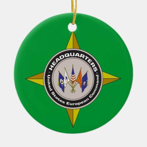 Army European Command Christmas Ornament