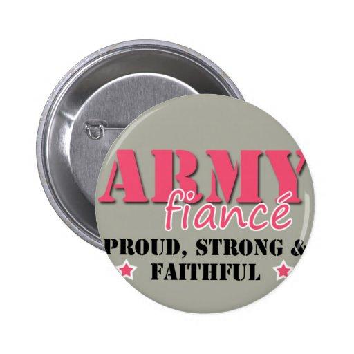 Army Fiance Button