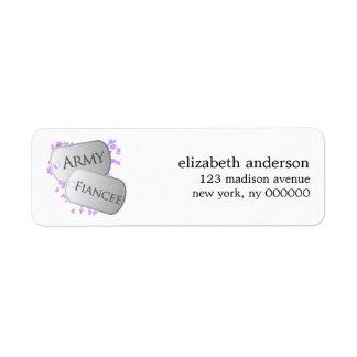 Army Fiancee & Dog Tags Address Labels