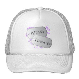 Army Fiancee Dog Tags Hats