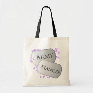 Army Fiancee Dog Tags Budget Tote Bag