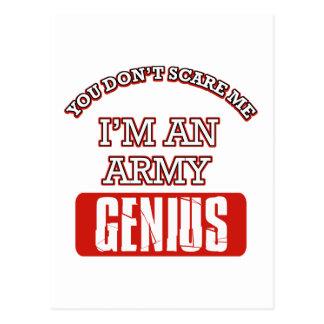 Army genius postcards