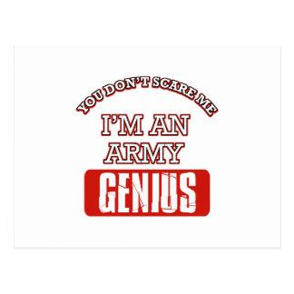 Army genius post card