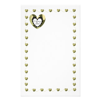 ARMY GIRL CAMO HEART STATIONARY STATIONERY