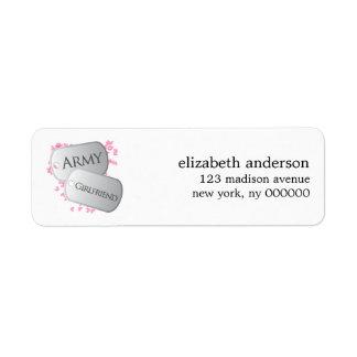 Army Girlfriend Address Labels