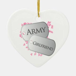 Army Girlfriend Ceramic Heart Decoration