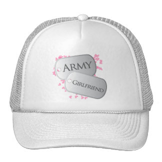 Army Girlfriend Pink Dog Tags Cap