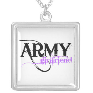Army Girlfriend Silver Plated Necklace