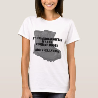 Army Grandma Granddaughter Combat Boots T-Shirt