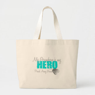 Army Grandma Grandson Hero Large Tote Bag