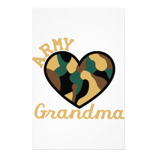 Army Grandma Stationery