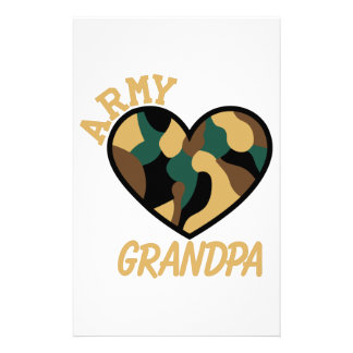 Army Grandpa Stationery
