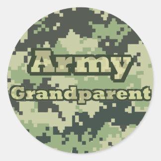 Army Grandparent Round Sticker