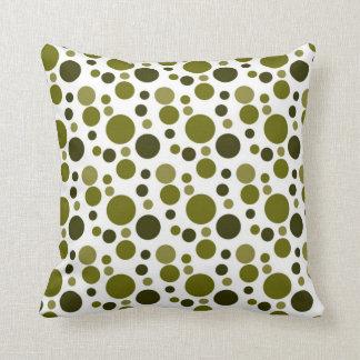 Army Green Bubbles Cushion