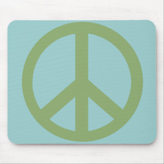 Army Green Peace Sign Products Mouse Pad