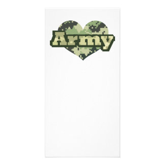 Army Heart Photo Cards