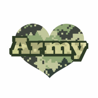 Army Heart Standing Photo Sculpture
