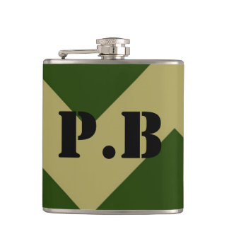 Army Inspired Customizable with your initials Flasks