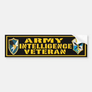 Army Intelligence Veteran bumper sticker