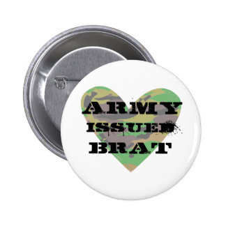 Army Issued Brat Pinback Buttons