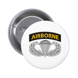 Army Jump Wings W/Tab 6 Cm Round Badge