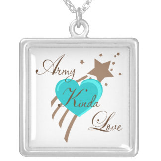 Army Kinda Love Silver Plated Necklace