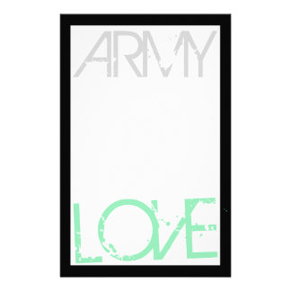Army Love Stationery
