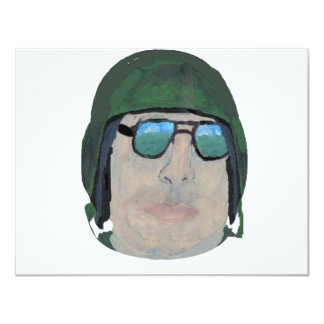 Army Man 11 Cm X 14 Cm Invitation Card