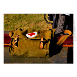 Army medical bag military armed services doctor greeting card
