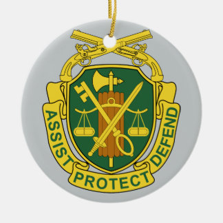 Army Military Police Corps Ceramic Ornament