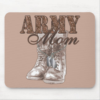 Army Mom Combat Boots N Dog Tags 1 Mouse Pad