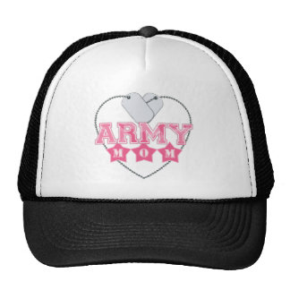 Army Mom Dog Tags Heart Hat