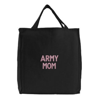 Army Mom Embroidered Bag