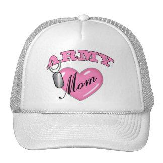 Army Mom Heart N Dog Tag Cap