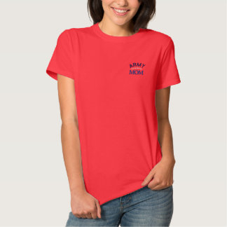 Army Mom Military Pride Embroidered Shirt