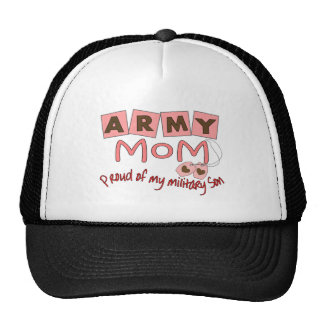 """Army Mom """"Proud of my military son"""" t-shirts Cap"""