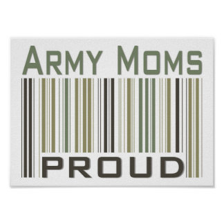 Army Moms Proud Poster