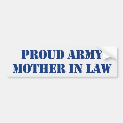 Army Mother In Law Bumper Sticker