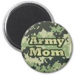 Army Mum 6 Cm Round Magnet