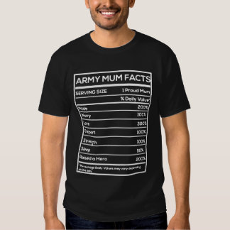 Army Mum Facts Shirts