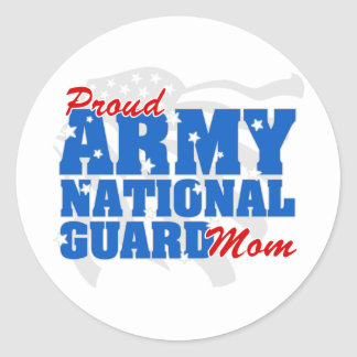 Army National Guard Mom Classic Round Sticker