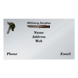Army navy air force marines rangers surplus pack of standard business cards
