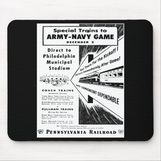 Army-Navy Game Via The Pennsylvania Railroad Mouse Pad