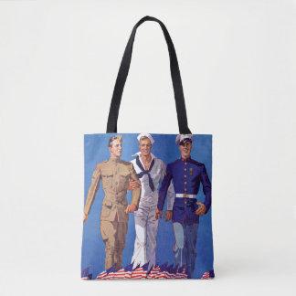 Army, Navy & Marines Tote Bag