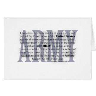 army oath card