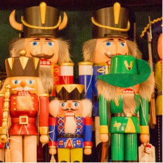 Army of Christmas Nutcrackers Photo Sculpture Decoration