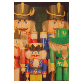 Army of Christmas Nutcrackers Wood Poster