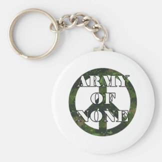 ARMY OF NONE BASIC ROUND BUTTON KEY RING